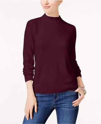Karen Scott Petite Luxsoft Mock-Neck Sweater