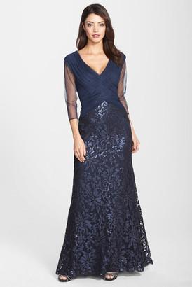 Tadashi Shoji Sequin Lace Gown $438 thestylecure.com