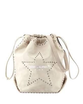 63b8c4dbfe81 Saint Laurent Teddy Large Star-Stud Drawstring Bucket Bag