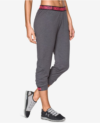 Under Armour Featherweight Cropped Fleece Pants $54.99 thestylecure.com
