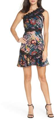 Foxiedox Retro Flowers One-Shoulder Party Dress