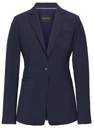Banana Republic Long and Lean-Fit Washable Wool-Blend Blazer