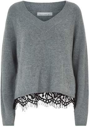 Robert Rodriguez Layered Lace Trim Sweater