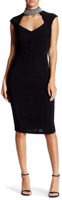 Marina Embellished Cutout Bodycon Dress $189 thestylecure.com