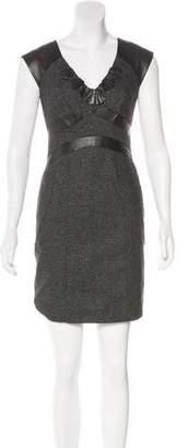 Rebecca Taylor Leather-Trimmed Mini Dress w/ Tags