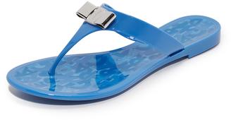 Salvatore Ferragamo Farella Jelly Thong Sandals $240 thestylecure.com