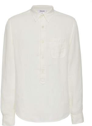Frame Cotton-Gauze Half-Placket Shirt Size: S