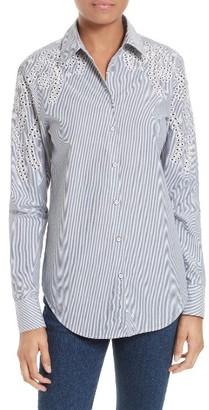 Women's Rag & Bone/jean Sahara Eyelet Cotton Shirt $250 thestylecure.com