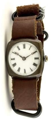 Rolex Hans Wilsdorf Unicorn RWC Sterling Silver & Leather 29mm Watch