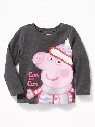 "Old Navy Peppa Pig ""Cozy and Cute"" Tee for Toddler Girls"