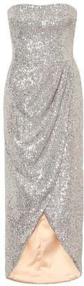 Rasario Sequined corset midi dress