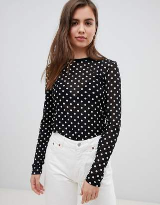 Minimum Moves By spotty long sleeve top