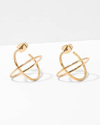 7 For All Mankind Five and Two Titus Earrings in Gold