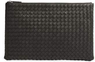 Bottega Veneta Large Leather Intrecciato Pouch