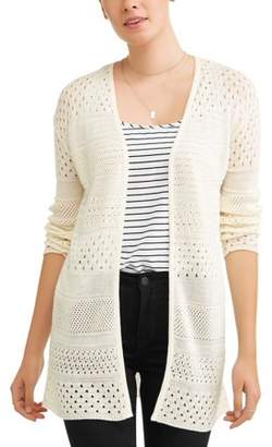 Time and Tru Women's Pointelle Cardigan