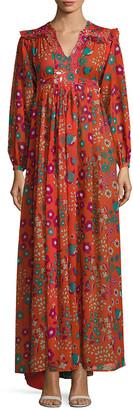 Manoush Flower Rain Print Maxi Dress