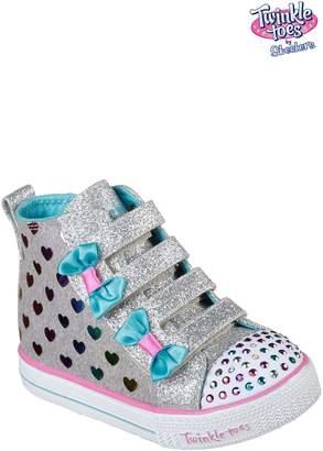 Next Girls Skechers Silver Shuffle Lite Fancy Flutters Trainer