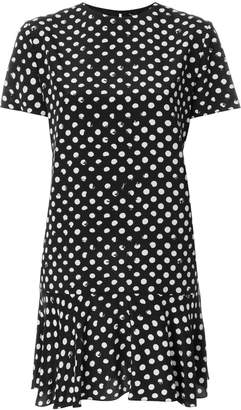 Saint Laurent polka dot fitted dress