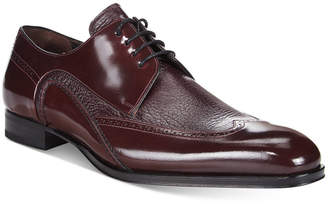 Mezlan Men's Freeport Mixed-Media Wing-Tip Oxfords $275 thestylecure.com