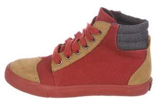 Little Marc Jacobs Boys' Leather-Trimmed High-Top Sneakers