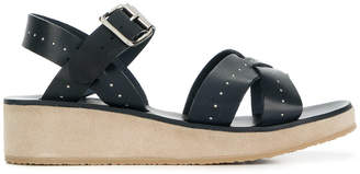 A.P.C. strappy wedge sandals