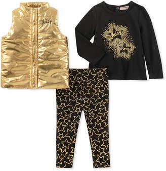 Juicy Couture 3Pc T-Shirt, Vest & Legging Set