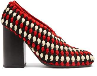 Meg Macrame Block Heels - Womens - Black Multi