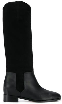 Aquazzura dual textured boots