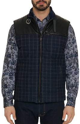 Robert Graham McClement Mixed-Media Plaid Quilted Vest