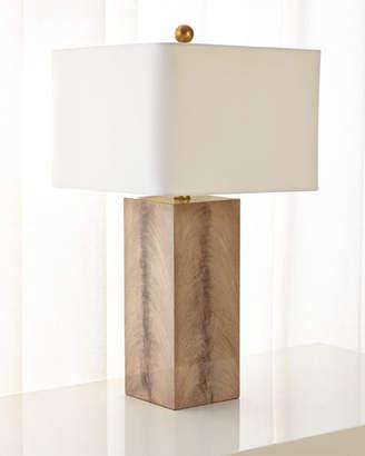 John-Richard Collection Walnut Wood Veneer Table Lamp