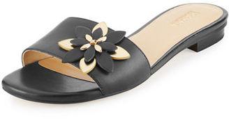 MICHAEL Michael Kors Heidi Floral Flat Slide Sandal $110 thestylecure.com