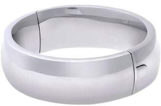 Citerna Rhodium Plated Silver Wide Bangle Of Diameter 60 Mm Width 20