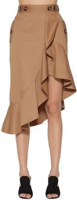 Self-Portrait Flounced Canvas Skirt