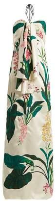 Johanna Ortiz Market Gardens Halter Neck Dress - Womens - Cream Print