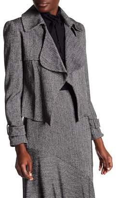 Anne Klein Ruffled Tweed Jacket