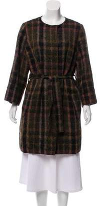 Dolce & Gabbana Plaid Alpaca-Blend Coat