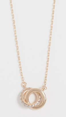 Adina 14K Gold Pave Interlocking Loop Necklace