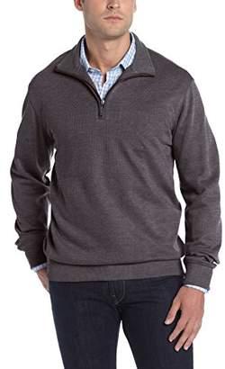 Van Heusen Men's Long Sleeve Spectator Solid 1/4 Zip Shirt
