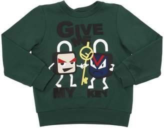 Fendi Key Lock Print Cotton Sweatshirt
