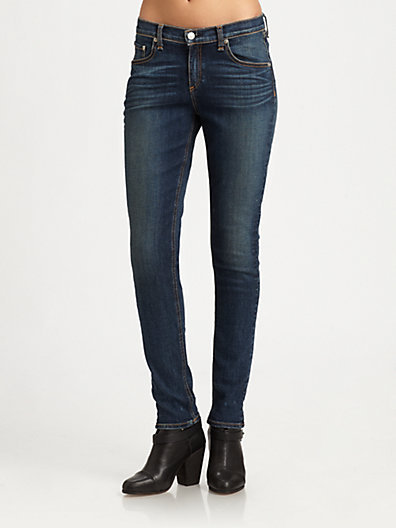 Rag and Bone Slouchy-Fit Skinny Jeans