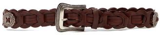 Linea Pelle Conch Braid Belt $58 thestylecure.com