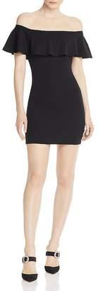 Aqua Off-the-Shoulder Body-Con Dress - 100% Exclusive