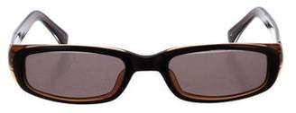 Norma Kamali Tinted Oval Sunglasses