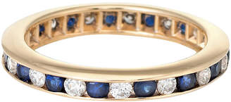 One Kings Lane Vintage 14K Sapphire Diamond Eternity Ring - Precious & Rare Pieces