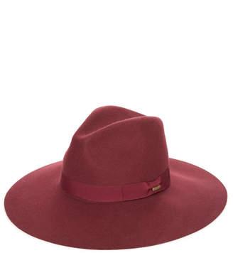 San Diego Hat Company Burgundy Ribbon Bow Fedora Burgundy 1 Size