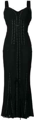 Dolce & Gabbana lace-up long corset dress