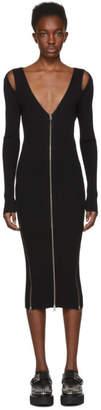 McQ Black Bodycon Zip Dress