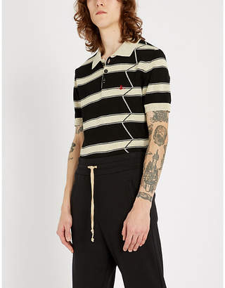 Vivienne Westwood Embroidered-logo striped cotton polo shirt