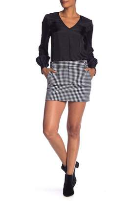Tibi Gingham Suiting Mini Trouser Skirt