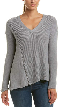 Matty M Asymmetric Hem Wool-Blend Sweater
